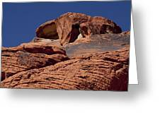 Red Rock Texture 2 Greeting Card