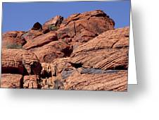 Red Rock Texture Greeting Card