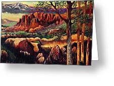 Red Rock Uplift Greeting Card