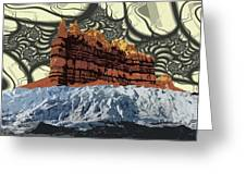Red Rock White Ice Greeting Card