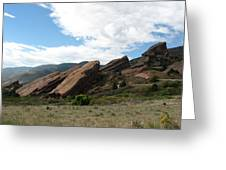 Red Rocks Denver Greeting Card