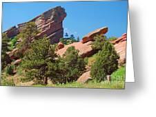 Red Rocks Landscape Greeting Card