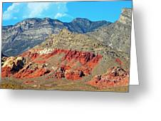 Red Rocks Nevada Greeting Card