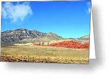 Red Rocks Nevada Panorama Greeting Card