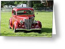 Red Rod Greeting Card