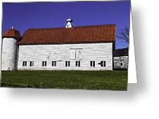 Red Roof Barn Vermont Greeting Card