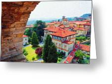 Red Roofs Greeting Card