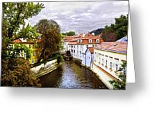 Red Roofs Of Prague - 2015 Greeting Card