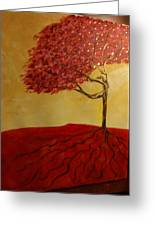 Red Rooted Tree Dancer Greeting Card by Nora Sorensen