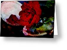 Red Rose And The Mirror Greeting Card