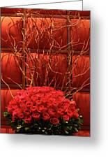 Red Rose Display Close Up Greeting Card by Linda Phelps