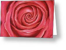 Red Rose Pastel Painting Greeting Card