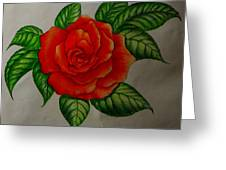 Red Rose Greeting Card by Ron Sylvia