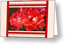 Red Rose With A Whisper Of Yellow And Design Greeting Card