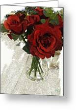 Red Roses And Glass Still Life 042216 1a Greeting Card