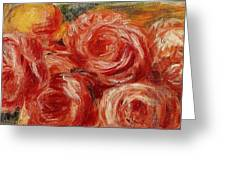 Red Roses Pierre-auguste Renoir Greeting Card