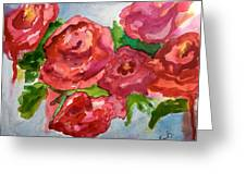 Red Roses, Red Roses Greeting Card