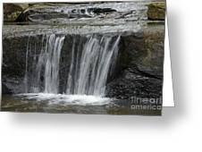 Red Run Waterfall Greeting Card