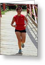 Red Runner Greeting Card