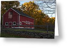 Red Rustic Barn Greeting Card