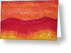Red Saddle Original Painting Greeting Card