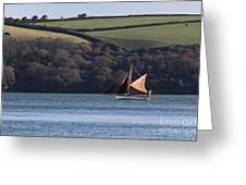 Red Sails In Carrick Roads Greeting Card