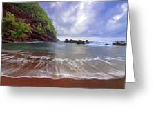 Red Sand Greeting Card