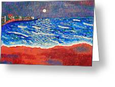 Red Sands Of Havana Greeting Card by Angela Annas