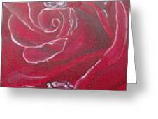 Red Greeting Card by Saundra Johnson