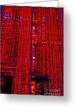 Red Scaffold Greeting Card