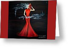 Scented Red Color Greeting Card