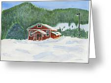 Red School House Greeting Card