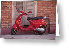 Red Scooter Greeting Card