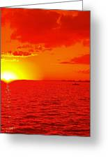 Red Sea Boating Greeting Card