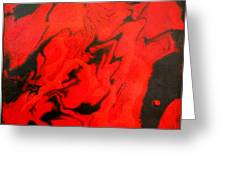 Red Series No. 1 Greeting Card