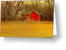 Red Shack Greeting Card