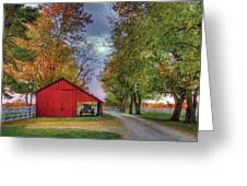 Red Shaker Carriage Barn Greeting Card