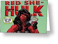 Red She-hulk Greeting Card