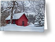 Red Shed Greeting Card