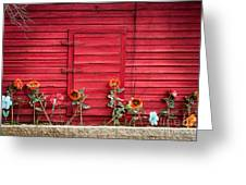 Red Sided Wall Greeting Card