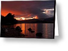 Red Skies Over Loch Rannoch Greeting Card