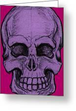 Purple Skull Greeting Card