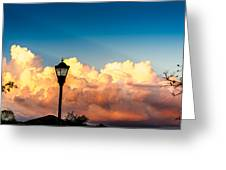 Storm Clouds During Sunset Greeting Card