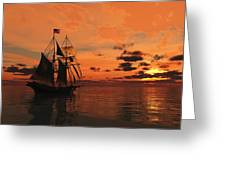 Red Sky At Night Greeting Card by Timothy McPherson