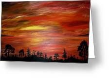 Red Sky Delight Greeting Card