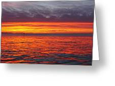 Red Sky In Morning, Sailor's Warning Greeting Card