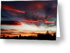Red Sky Greeting Card by Julian Perry