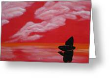 Red Sky1 Greeting Card