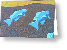Red Snapper Inlay On Alabama Welcome Center Floor - Color Invert Greeting Card