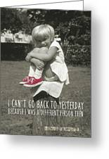 Red Sneakers Quote Greeting Card